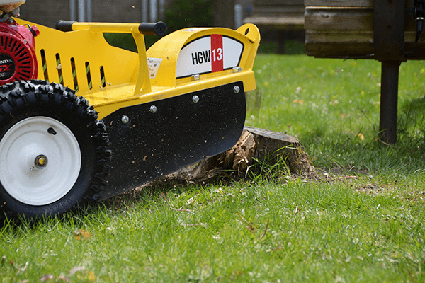 HGW13 Holt stump grinder right side close view